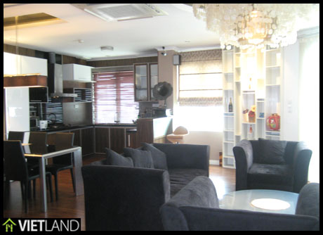 Well-designed apartment with 2 bedrooms for rent in Dong Da district, Ha Noi