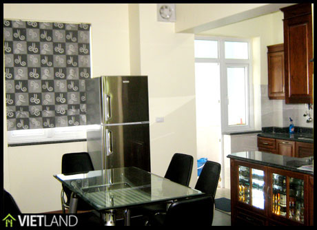 Brand new 3- BRs apartment for rent with full furnishing in Building 172 Ngoc Khanh Str