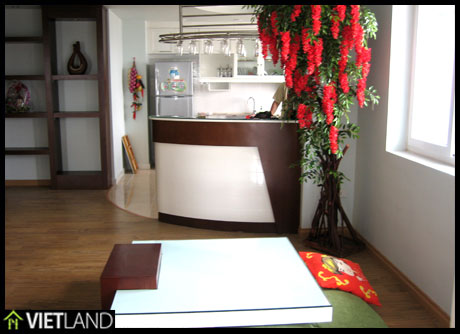 Fully furnished apartment with 2 bedrooms for rent in 102 Thai Thinh Building