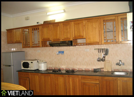128m2 large, full furnished apartment with lake view for rent in Dong Da district, 3 beds