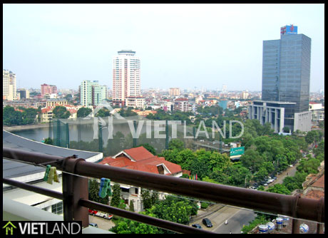 Beautiful apartment with lake view for rent in Ha Noi
