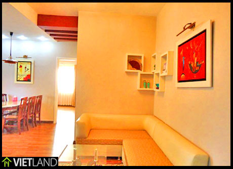 Spacious apartment with 3 bedrooms for rent in Block 17T6 Trung Hoa- Nhan Chinh, Ha Noi