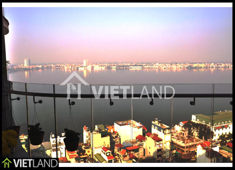 Spacious apartment with West Lake view for rent in Golden WestLake Complex, Tay Ho district, Ha Noi