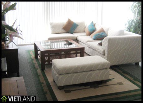 Spacious serviced apartment with lake view for rent in Ba Dinh district, Ha Noi