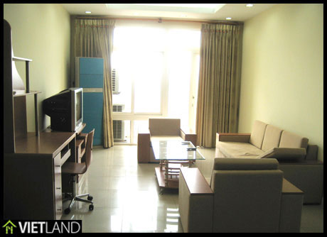 120-sqm large serviced apartment for rent in DMC Tower, Kim Ma Str, facing to the Ha Noi Zoo