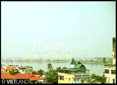 Serviced flat with 2 bedrooms for rent in WestLake area,To Ngoc Van street, Tay Ho district, Ha Noi