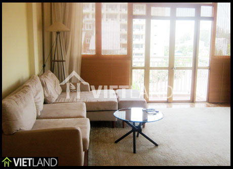 Cozy serviced apartment with 2 bedrooms for rent in Tay Ho district, Ha Noi