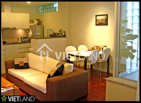 Serviced flat with 2 small bedrooms for rent near the Flower Open Market, Tay Ho district, Ha Noi