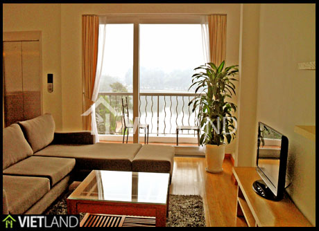 Lakeside located serviced apartment for rent on Pham Huy Thong Street, Ba Dinh district, Ha Noi
