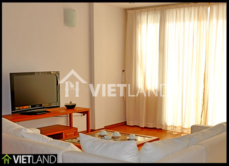 Serviced apartment with 2 beds and lakeview for rent in Tay Ho district, Ha Noi